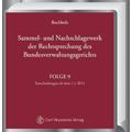Buchholz, Sammel- und Nachschlagewerk der Rechtsprechung des Bundesverwaltungsgerichts - Gesamtausgabe