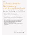 MSchrKrim - Monatsschrift für Kriminologie und Strafrechtsreform