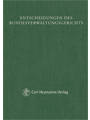 BVerwGE - Entscheidungen des Bundesverwaltungsgerichts