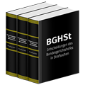 BGHSt - Entscheidungen des Bundesgerichtshofes in Strafsachen